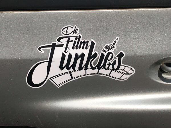 die film junkies autoaufkleber